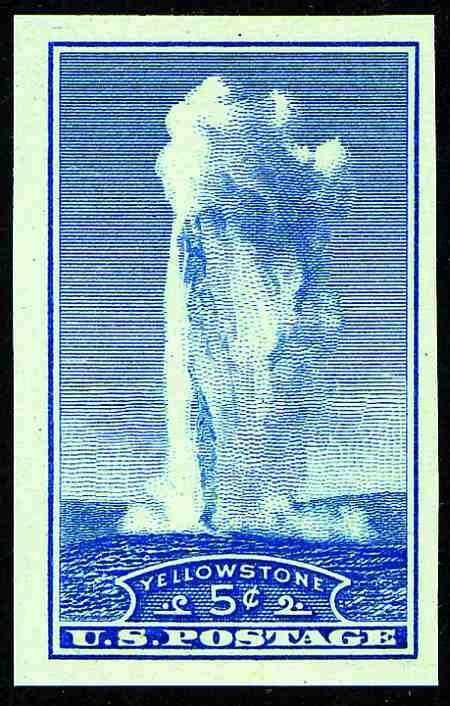 1935 Imperforate National Parks  #756-765