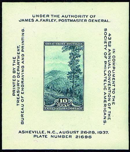 1937 Smoky Mountains Sheet #797