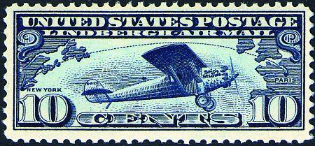 1927 Lindbergh's Trans-Atlantic Flight  #C10