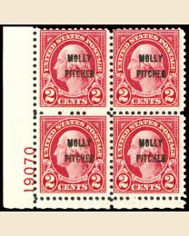 #646 - 2¢ Battle of Monmouth: Plate Block