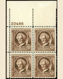 # 863 - 10¢ S. Clemens: plate block
