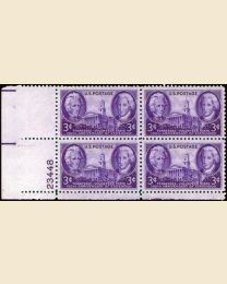# 941 - 3¢ Tennessee: plate block