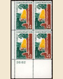 #1122 - 4¢ Forest Conserv.: plate block