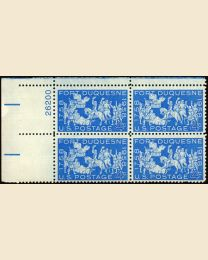 #1123 - 4¢ Fort Duquesne: plate block