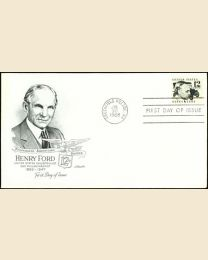 #1286A- 12¢ Henry Ford: FDC
