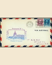 1933 Franklin D. Roosevelt Inaugural Cover