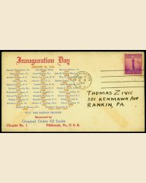 1941 Franklin D. Roosevelt Inaugural Cover