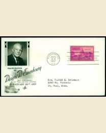1957 Dwight Eisenhower Inaugural Cover