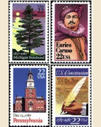 #1987Y - 1987  38 stamps