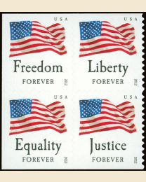 #4641S- (45¢) Four Flags booklet