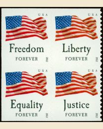 #4645S- (45¢) Four Flags booklet