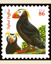 #4737A- 86¢ Tufted Puffins