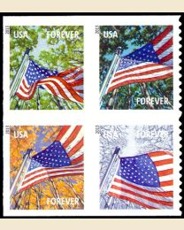 #4782S- (46¢) Flag in Four Seasons booklet