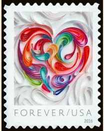 #5036 - (49¢) Quilled Paper Heart