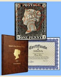 1840 Penny Black - World's First Stamp
