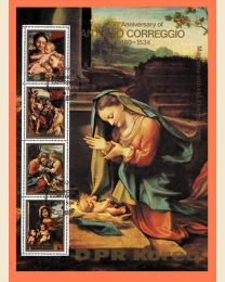 Madonna & Child sheet of 4 - 7 x 9 1/2 inches in size