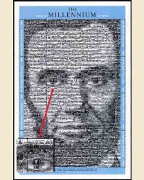 Image of Abraham Lincoln is a photomosaic of over 1,200 Civil War photographs