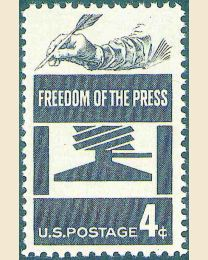 #1119 - 4¢ Freedom of the Press