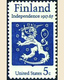 #1334 - 5¢ Finnish Independence