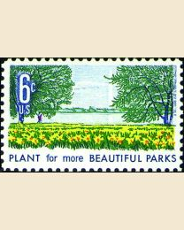 #1366 - 6¢ Beautify Parks