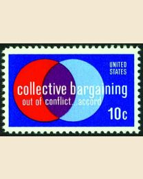 #1558 - 10¢ Collective Bargaining