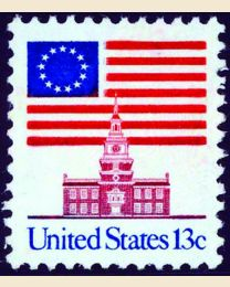 #1622C - 13¢ Flag over Independence Hall