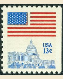 #1623 - 13¢ Flag over Capitol