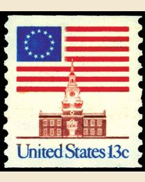 #1625 - 13¢ Flag over Independence Hall