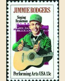 #1755 - 13¢ Jimmie Rodgers
