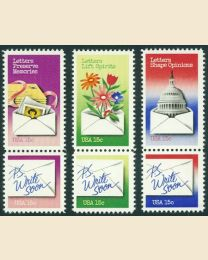 #1805S - 15¢ Letter Writing