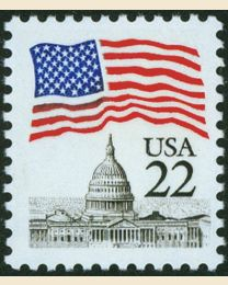 #2114 - 22¢ Flag over Capitol