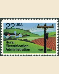 #2144 - 22¢ Rural Electricity