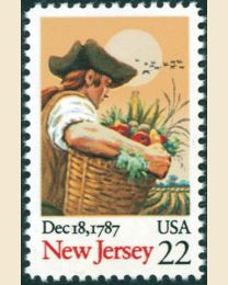 #2338 - 22¢ New Jersey (1987)