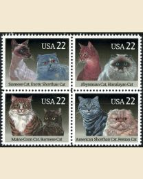 #2372S - 22¢ Cats