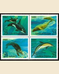 #2508S - 25¢ Creatures of the Sea