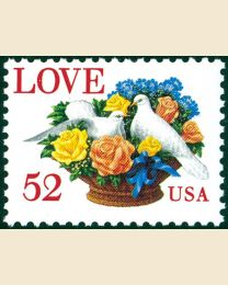 #2815 - 52¢ Love: Dove and Flowers