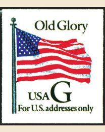 """#2887 - """"G"""" Old Glory (32¢), Thin Paper"""