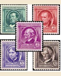 # 859S - Famous Americans set of 35