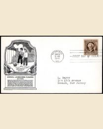 # 863 - 10¢ S. Clemens: FDC