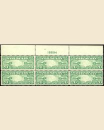 #C9 - 20¢ Map & Mail Planes: Plate Block