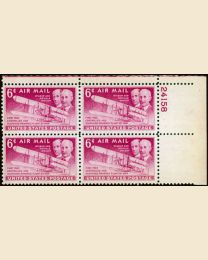 #C45 - 6¢ Wright Brothers: Plate Block