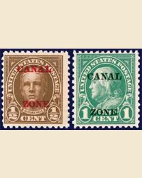Canal Zone #70-71 Overprints