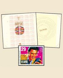 Elvis single stamp shown for illustrative purposes, you will receive the full mint sheet of 40