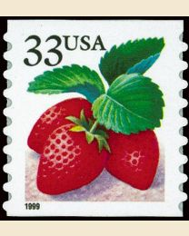 #3305 - 33¢ Strawberries coil