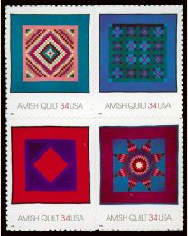 #3524S- 34¢ Amish Quilts