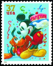 #3912 - 37¢ Pluto & Mickey Mouse
