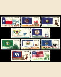 #4323S- (45¢) Flags (6) Texas - Wyoming
