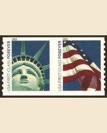 #4486S- (44¢) Liberty & Flag coil