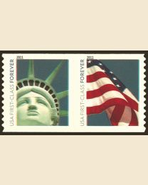 #4488S- (44¢) Liberty & Flag coil