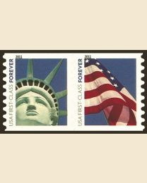 #4490S- (44¢) Liberty & Flag coil